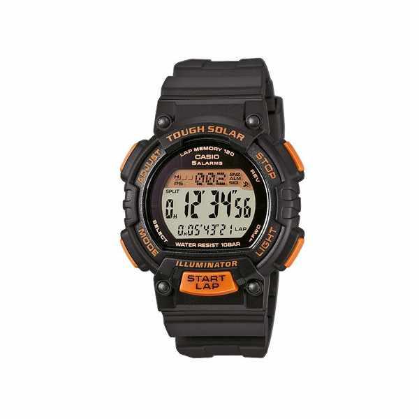 CASIO Solar LCD Illuminator Sportuhr klein, schwarz-orange_2368