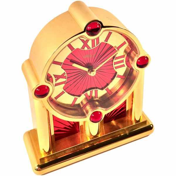 IMHOF Tischuhr Quartz, Orient De Luxe rot_2395