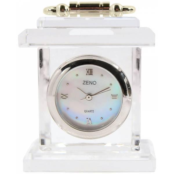 _ZENO Miniaturuhr aus Bleikristall, Quartz Tischuhr klein_2397