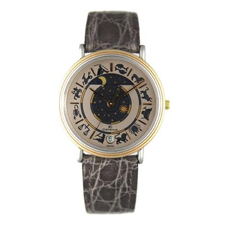 CATENA Zodiac-Moon, Quartz, Mondphasenuhr, grau