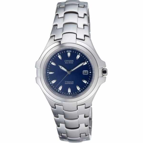 CITIZEN Marinaut Medium, Eco-Drive Solaruhr, Super Titanium, blau_2593