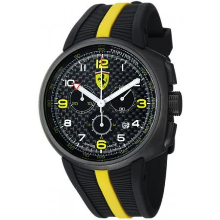 Ferrari, Fast Lab, Chronograph, Quartzuhr, schwarz-gelb