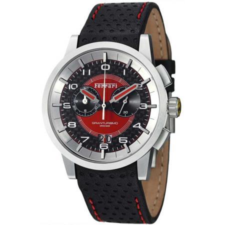 FERRARI Granturismo Chronograph Quartzuhr schwarz/rot