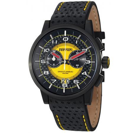 Ferrari, Granturismo, Chronograph, Quartzuhr schwarz/gelb