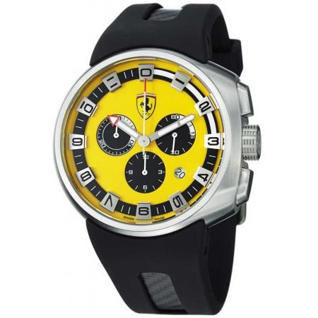 Ferrari, Podium, Chronograph, Quartzuhr, gelb