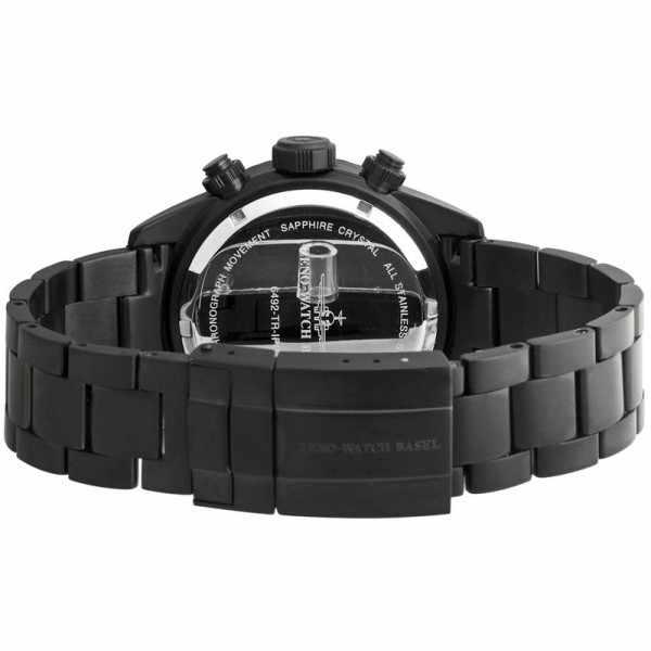 ZENO-WATCH BASEL, Diver Ceramic Chrono Quartz, Stahl schwarz/grün MB_267