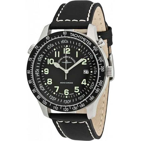 ZENO-WATCH BASEL, Pilot Minute Chrono, Handaufzug Flieger_3177