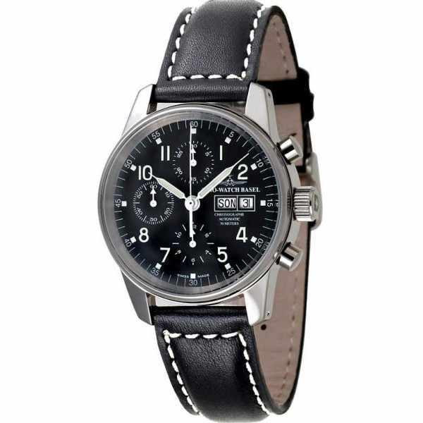 ZENO-WATCH BASEL, Pilot Classic, Automatik Flieger Chrono Navigator_3183