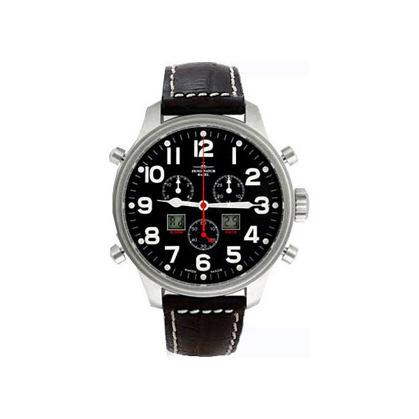 ZENO-WATCH BASEL, Pilot Oversized XL Fliegeruhr, Chrono-Alarm Ø 47.5mm_3187