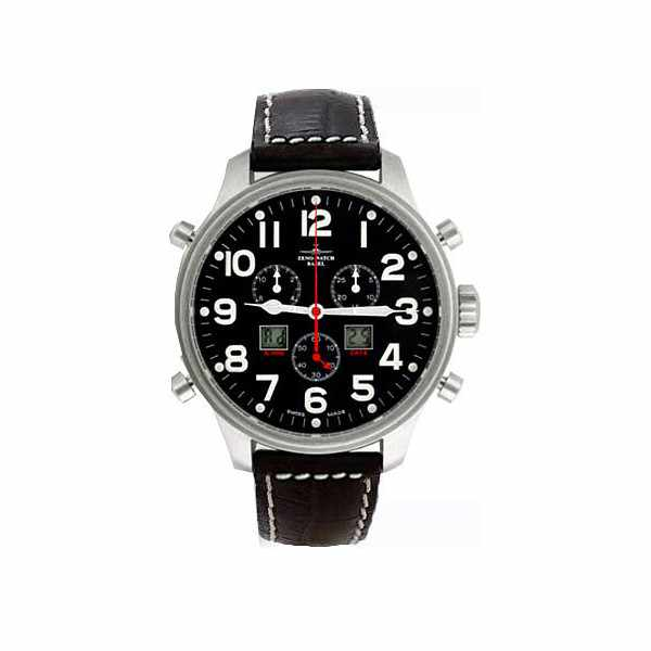 ZENO-WATCH BASEL, Pilot Oversized XL Fliegeruhr, Chrono-Alarm Ø 42mm_3188