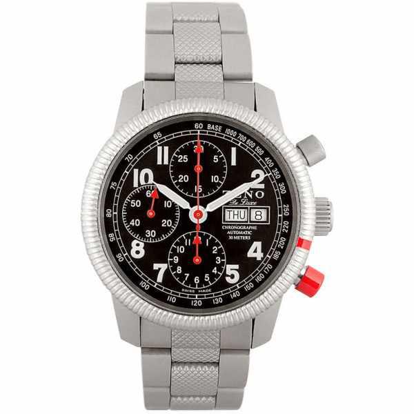 ZENO-WATCH BASEL, Pilot Classic, Automatik Ralleyuhr, Chronograph_3193