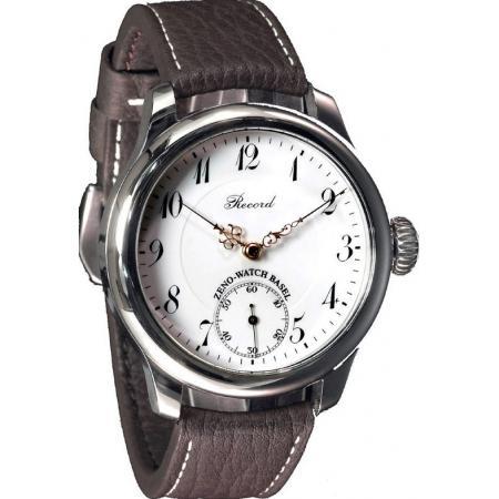 ZENO-WATCH BASEL, Retro Record, Handaufzug Uhr mit altem Uhrwerk
