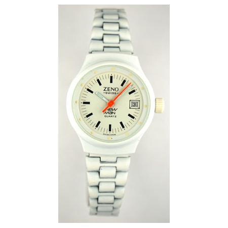 New White Damen Quartzuhr weiss