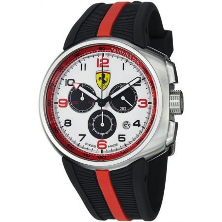 Ferrari, Fast Lap, Chronograph, Quartzuhr, weiss-schwarz