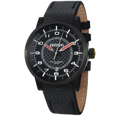 FERRARI Granturismo Automatik Uhr, Edelstahl schwarz_3357