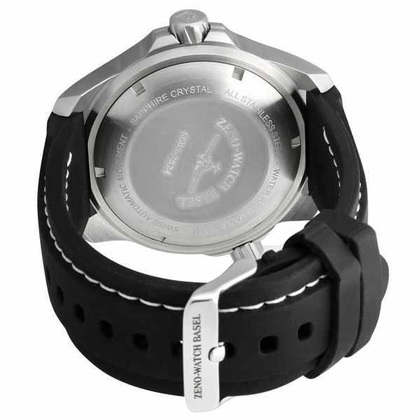 ZENO-WATCH BASEL, Pro Diver II, XL Quartz Taucheruhr schwarz-weiss_342