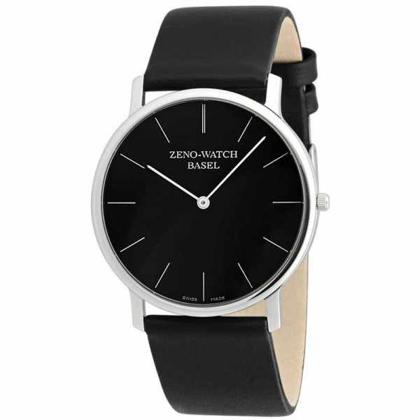 ZENO-WATCH BASEL, Bauhaus XL, Quartzuhr schwarz_3467