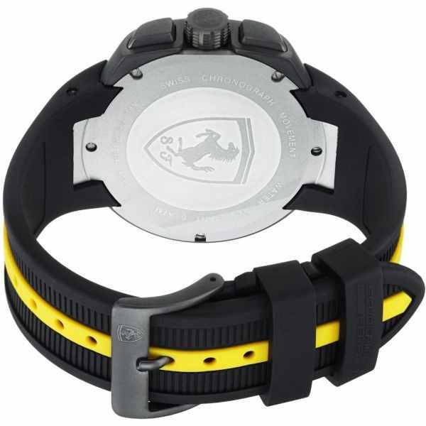 FERRARI Fast Lab Chronograph Quartzuhr, schwarz-gelb_352