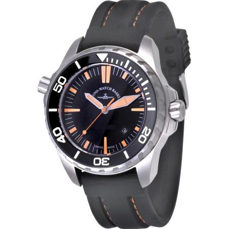 ZENO-WATCH BASEL, Pro Diver II, XL Quartz Taucheruhr schwarz-orange