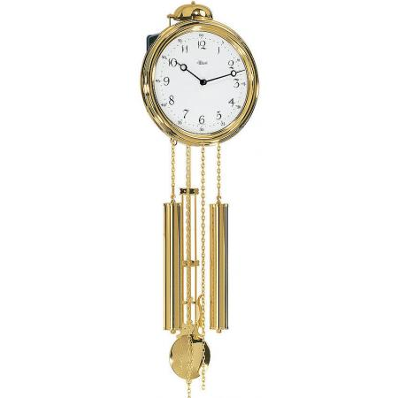 HERMLE Lyra Pendeluhr, mechanische Messing Wanduhr