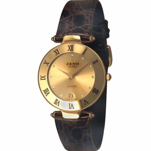 ZENO, CL Quartz Uhr, champagne 33mm_3812