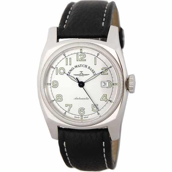 ZENO-WATCH BASEL, Retro Carré, Automatik Uhr, silbergrau_3942