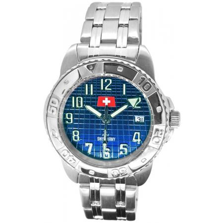 SWISS ARMY Sporty Quartzuhr, blau
