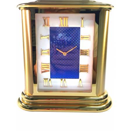 IMHOF Tischuhr Quartz, Roma De Luxe, vergoldet