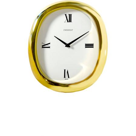 IMHOF Tischuhr Quartz, Oval vergoldet