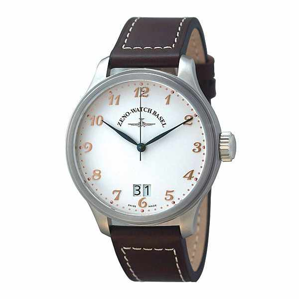 ZENO-WATCH BASEL, Retro Oversized, XL Quartzuhr, Grossdatum_4216