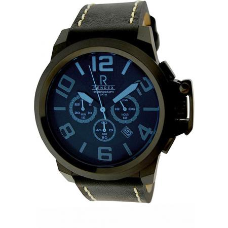 RENDEX, Deep Blue, XL Chronograph, Quartzuhr, schwarz/blau_4219