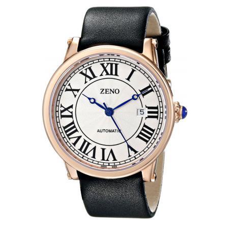 ZENO, Retro Roma Art Deco XL, Automatik Uhr, rosé vergoldet