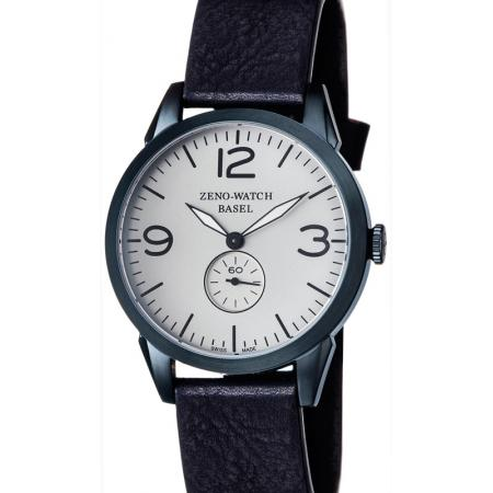 ZENO-WATCH BASEL, Retro Vintage, Quartzuhr blau