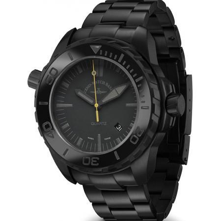 ZENO-WATCH BASEL, Pro Diver II, XL Quartz Taucheruhr schwarz-gelb MB_4256