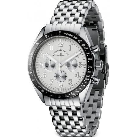 ZENO-WATCH BASEL, Lemania Handaufzug Chronograph, Edelstahl a2M