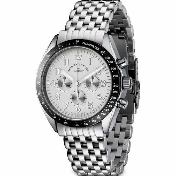 ZENO-WATCH BASEL, Lemania Handaufzug Chronograph, Edelstahl a2M_4268