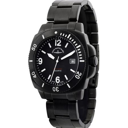 ZENO-WATCH BASEL, Diver Look, Quartzuhr, schwarz