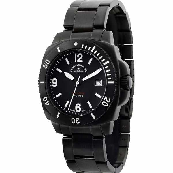 ZENO-WATCH BASEL, Diver Look, Quartzuhr, schwarz_4277