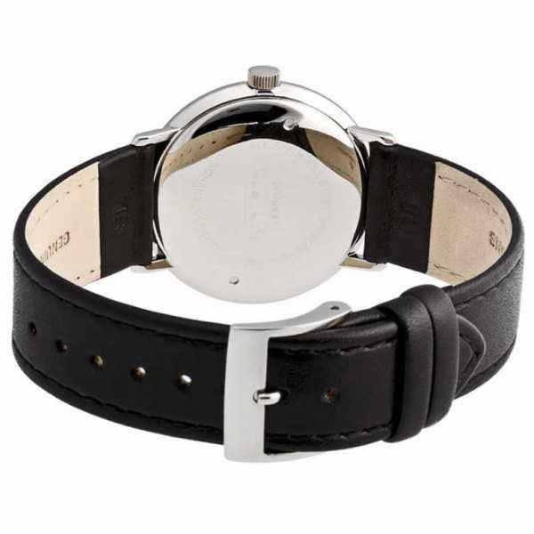 Junghans, MAX BILL 35 Handaufzuguhr, Numbers schwarz, Lederband_428