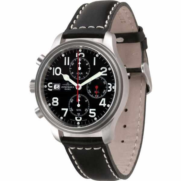 ZENO-WATCH BASEL, Pilot New Classic, Automatik Fliegerchrono für Linkshänder XL_4291