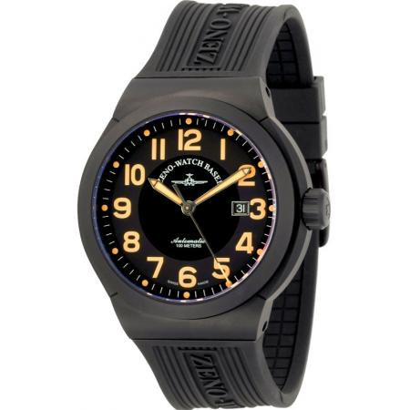 ZENO-WATCH BASEL, Pilot Raid, Automatikuhr XL Titan orange_4298