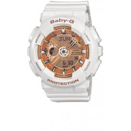 BABY-G Uhr von Casio, Digi-Analog, weiss-gold