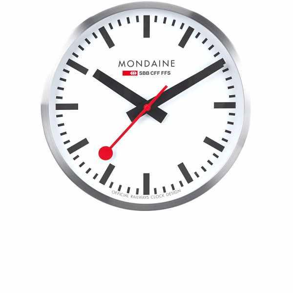 MONDAINE Wall Clock XL, SBB Bahnhofswanduhr, Hybrid Sweep Silent_4634