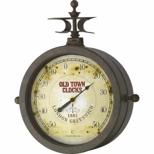 TFA Old Town Clocks, drehbare Aussenuhr, Thermometer_4638