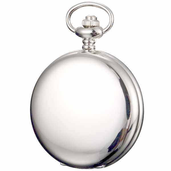 Klassik Taschenuhr Quartz, chromé Datum_4782