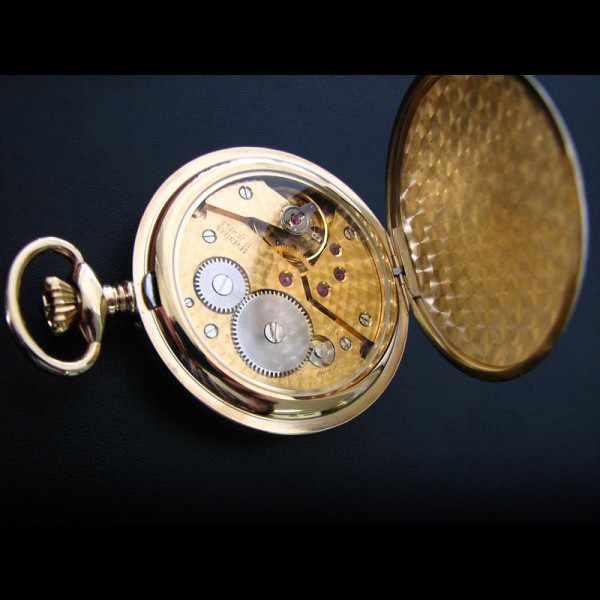 Klassik Taschenuhr Handaufzug, Bulova Louis XVI vergoldet_4821