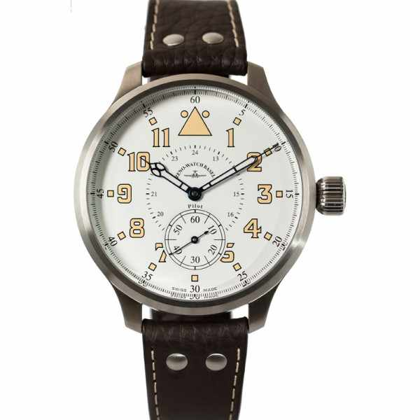 ZENO-WATCH BASEL, Retro Super Oversized, Handaufzug XXL, weiss_4887