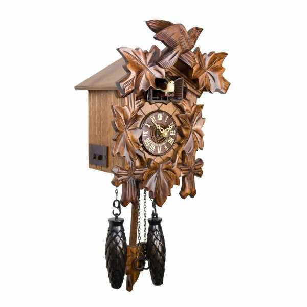 Kuckucksuhr Klassik Black Forest, Holz Wanduhr Quartz 23cm_4976