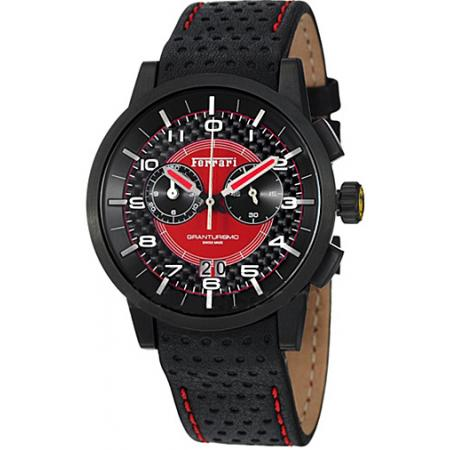 FERRARI Granturismo Chronograph Quartzuhr schwarz-rot_4989
