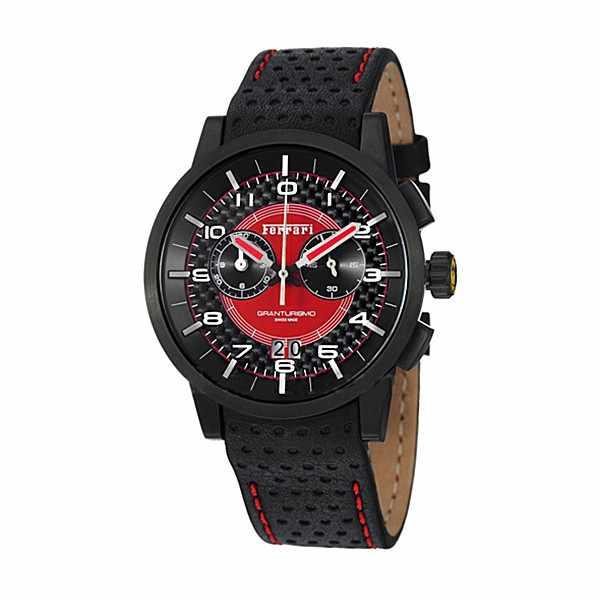 Ferrari, Granturismo, Chronograph, Quartzuhr schwarz-rot_4989